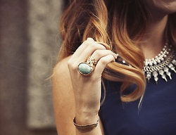 .: Statement Rings, Hair Colors, Cocktails Rings, Summer Style, Wavy Hair, The Cities, Fashion Accessories, Ysl Rings, Necklaces