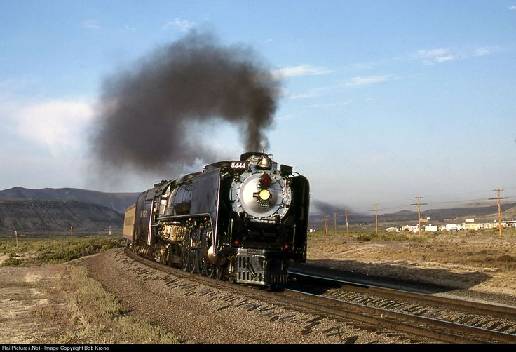 RailPictures.Net Photo: UP 8444 Union Pacific Steam 4-8-4 at Rock Springs, Wyoming by Bob Krone