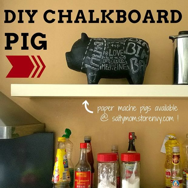 Chalkboard Pig Kitchen Decor