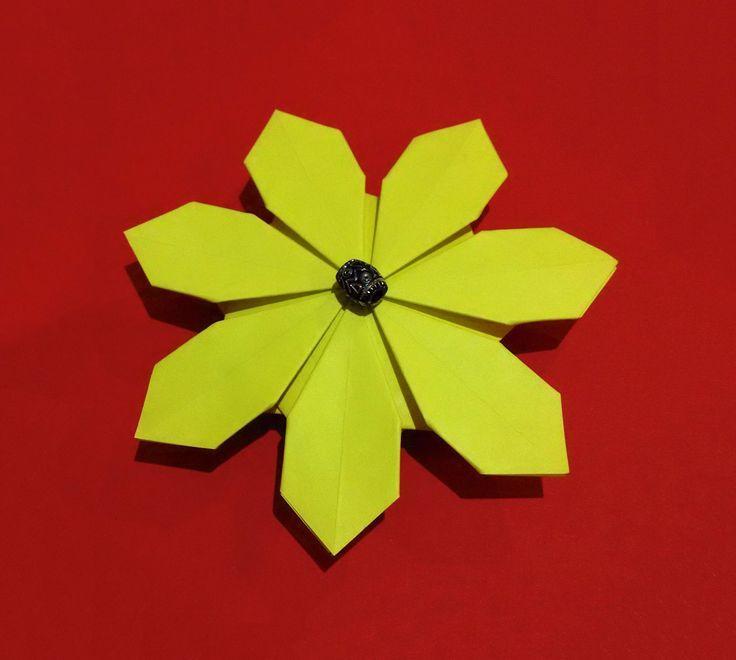 plus de 25 id es uniques dans la cat gorie fleur origami. Black Bedroom Furniture Sets. Home Design Ideas