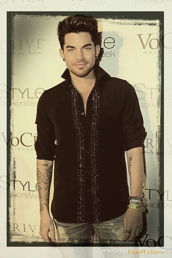 Adam Lambert- i love him with a little rough beard it suits him. Plus it makes…