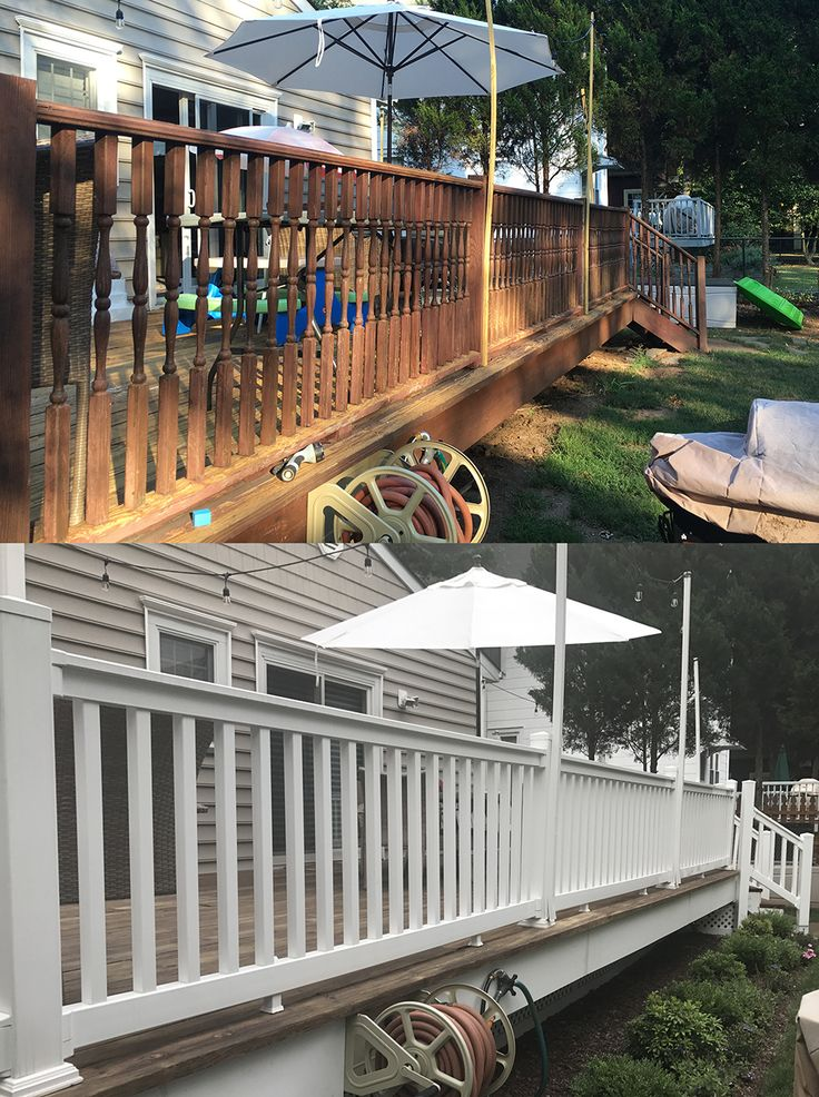 We love how this railing makeover turned out from Dave G. in Cranford, NJ.