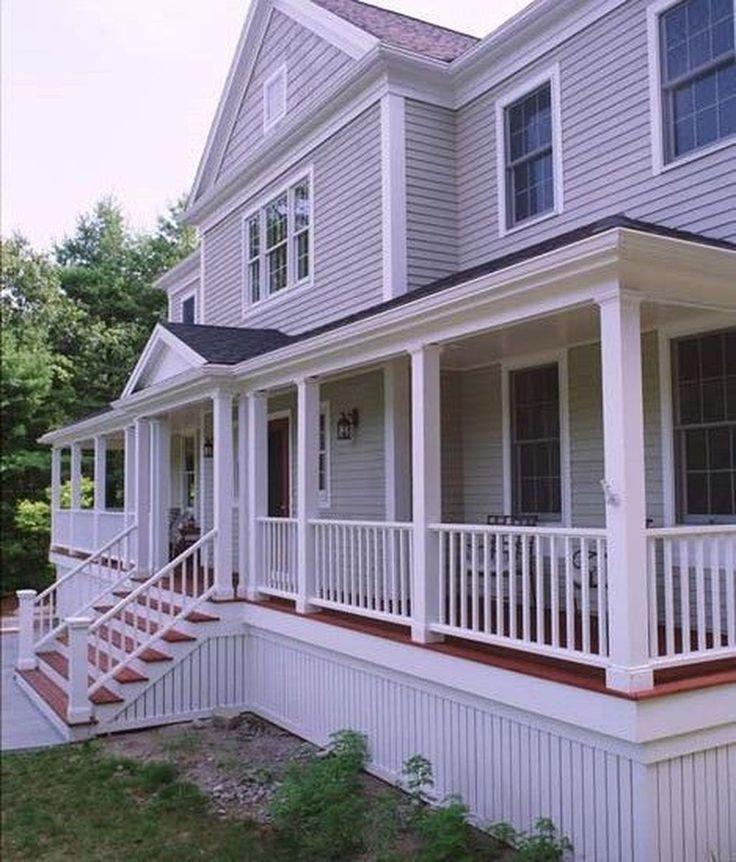 Colonial Home Design Ideas: 32 Stunning Colonial Farmhouse Exterior Design Ideas