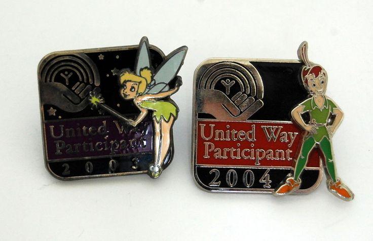 United Way Participant Pin Lot 2003 2004 Tinkerbell Peter Pan 27473 32345