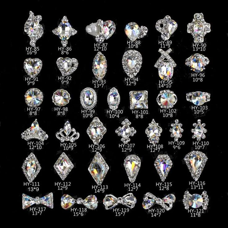 White AB Rhinestone Crystal Decoration Asian Nail Art Product Supply With Thousand Designs Stocking