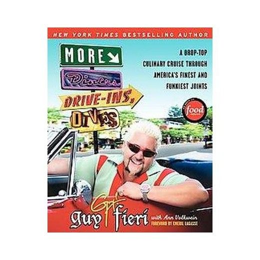 <blockquote> <p>Join <em>New York Times</em> bestselling author and Food Network star Guy Fieria for a second helping of the best diners, drive-ins, and dives across America!</p> </blockquote> <p>Guy Fieri strikes again with <em>More Diners, Drive-ins and Dives</em>, giving you a road map to road food that's ear...