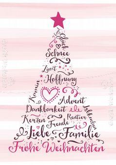 Art.Nr. 9783: Postkarte - Frohe Weihnachten!