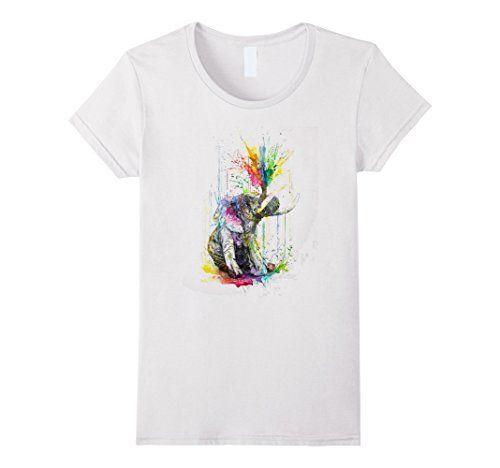 Women's Elephant Shirt Ella Wanderlust Henna Vintage Summer Shirt.