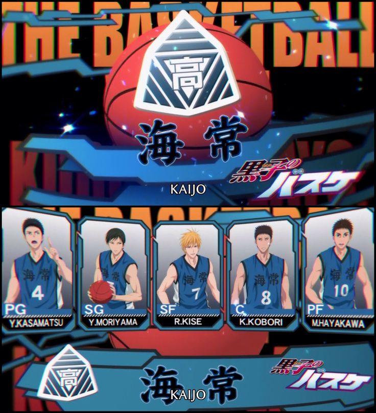 Kuroko's Basketball season 3 Kaijo