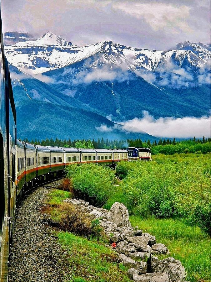 Train Through The Canadian Rockies, Banff To Vancouver. Made the trip summer, 2015, after spending a week in the Banff, Lake Louise and Jasper area.   So glad I did it!