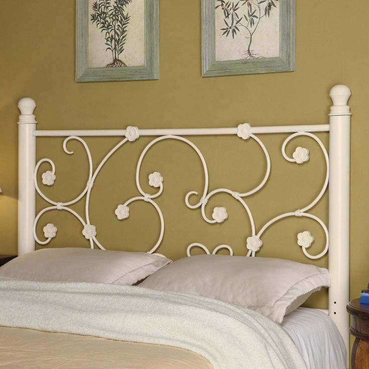 iron beds and headboards fullqueen white metal headboard with elegant vine pattern by coaster at nashville discount furniture
