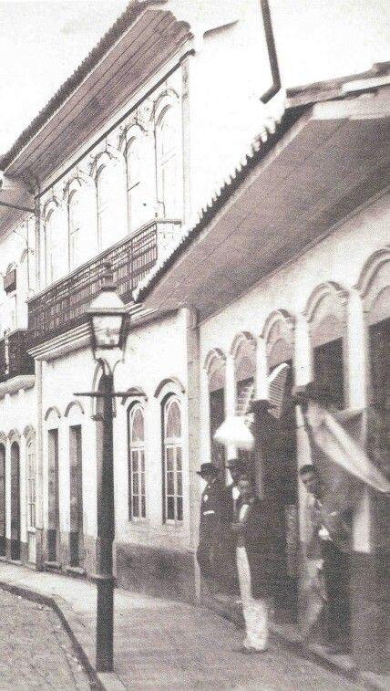 Sao Paulo gas streetlight 1862- Militão Augusto de Azevedo