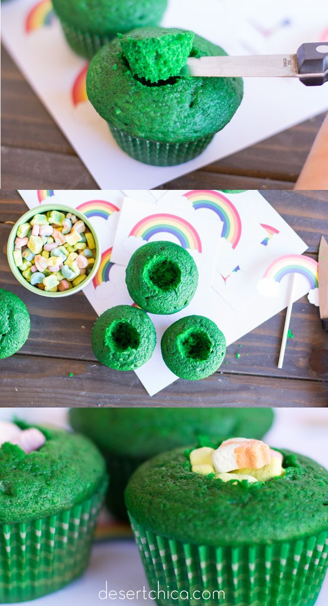 These Lucky Charms cupcakes are not only easy, they've got a surprise inside! This leprechaun trick is a delicious one!