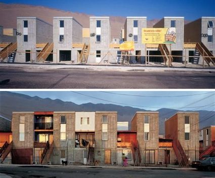 Alejandro Aravena created social housing for a poor community living in the north of Chile. He simply provided families with half a house and they built the rest, within a defined structural framework. The project was self-initiated and the final dwellers of the houses were involved in the design process.  See also https://www.ted.com/talks/alejandro_aravena_my_architectural_philosophy_bring_the_community_into_the_process?language=en
