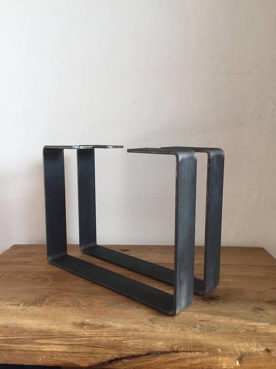 Set Of 2 Steel Coffee Table Legs Metal