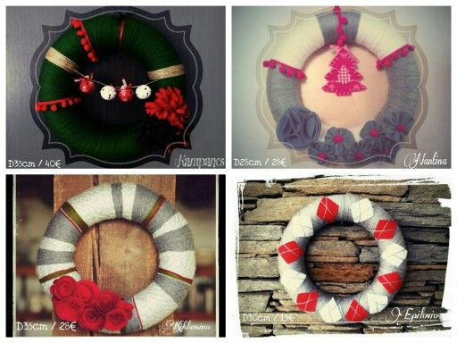 Xmas handmade wreaths D30 / 35