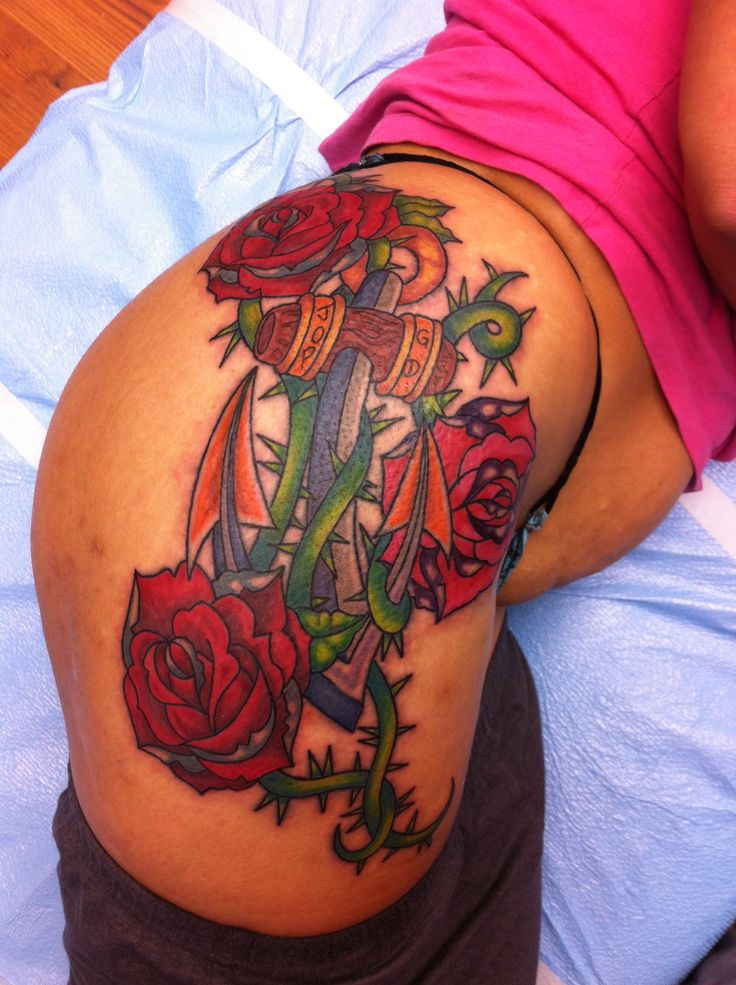 Anchor rose tattoo tattoos pinterest for Anchor rose tattoo