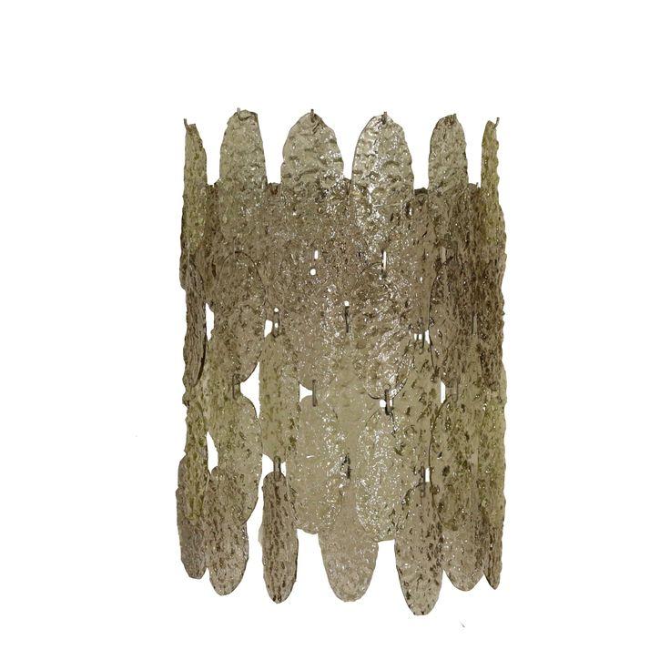 Wall Light Metal Crystal Vintage Italy 1960s