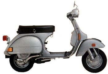 1979 Vespa P200E - The second fastest production bike. My current Wasp