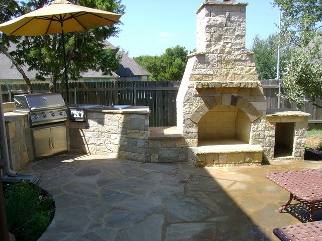 Genial Outdoor #fireplace And #kitchen Area By DH Landscape Design