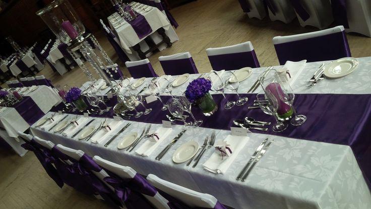 Purple wedding at Hart House #torontovenues #memoryboxevents