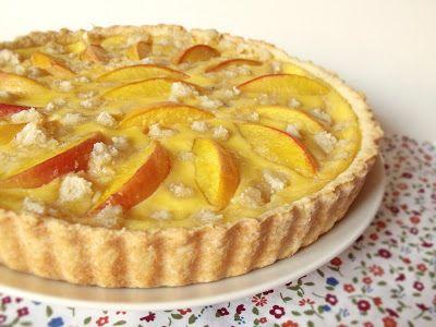 Citromhab: Őszibarackos pite marcipánnal