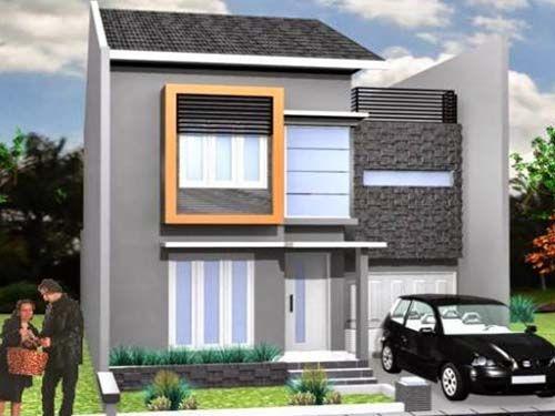 desain rumah sederhana 2 lantai terbaru