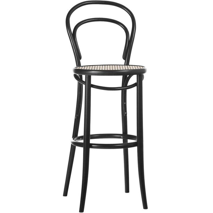 No14 barstol H61, svart/rotting i gruppen Möbler / Stolar & Pallar / Barstolar hos RUM21.se (132615)
