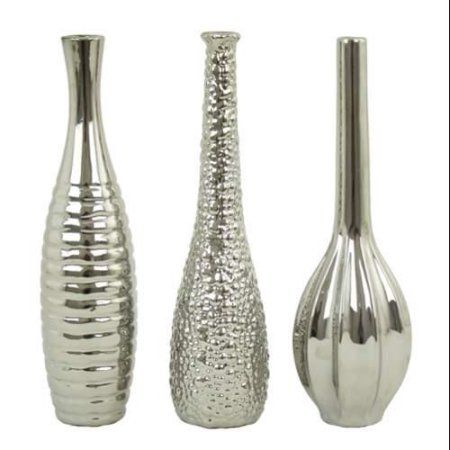 Aspire Home Accents  6629  Accents  Tianna  Home Decor  Vases  ;Silver