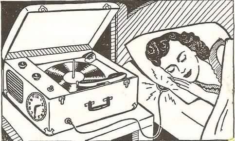Vinyl music records black and white pop art drawing illustration
