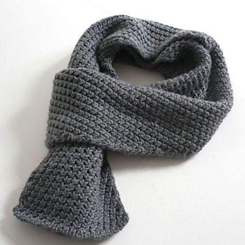 We Like Knitting: Extra Warm Men's Scarf - Free Pattern