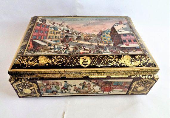 Large Tin Box E Otto Schmidt Very Large Tin Box German Tin