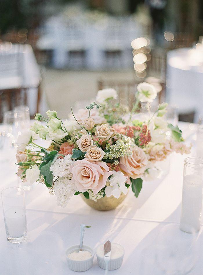 Soft Spring Flowers for a Fine Art Wedding Day  https://heyweddinglady.com/bridal-glam-meets-organic-florals-italian-inspired-wedding/      #wedding #weddings #weddinginspiration #fineartphotography #realwedding #brides #glamwedding #glam #galialahav #filmphotography #weddingday