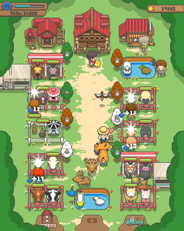 Tiny Pixel Farm Well Designed, Cutesy Mobile Game Pixel