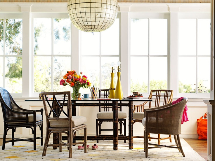 Eclectic Casual Dining RoomsEclectic