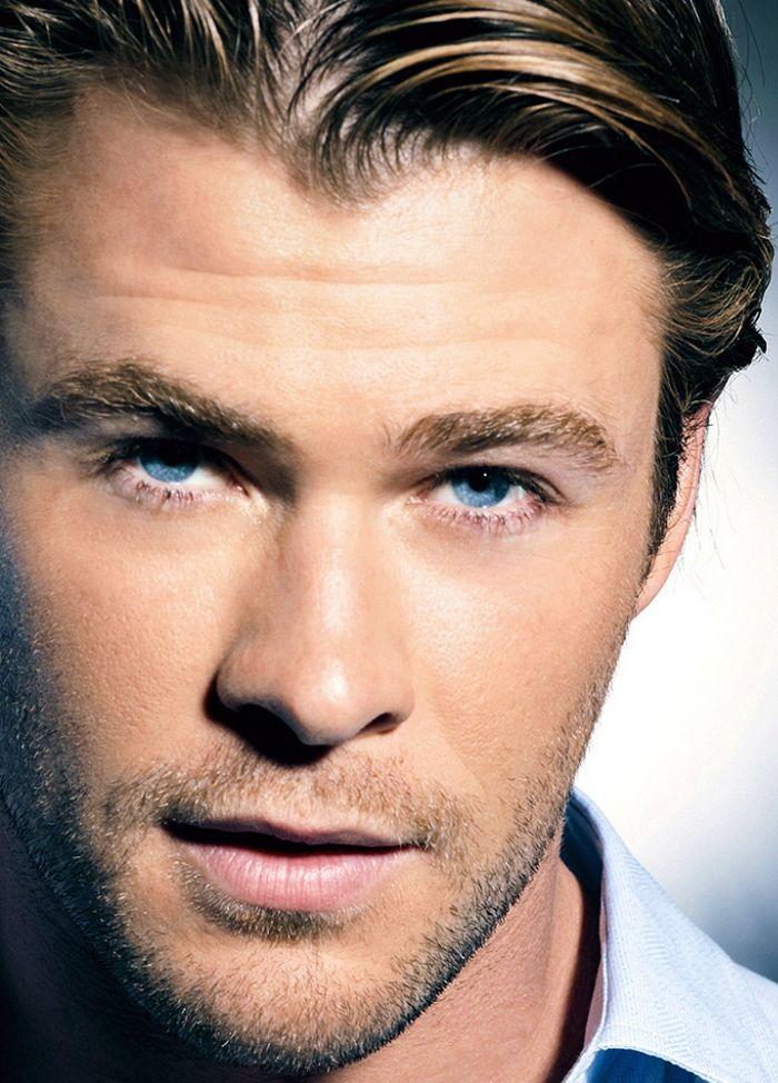 Che occhi azzurri! Davvero niente male #ChrisHemsworth