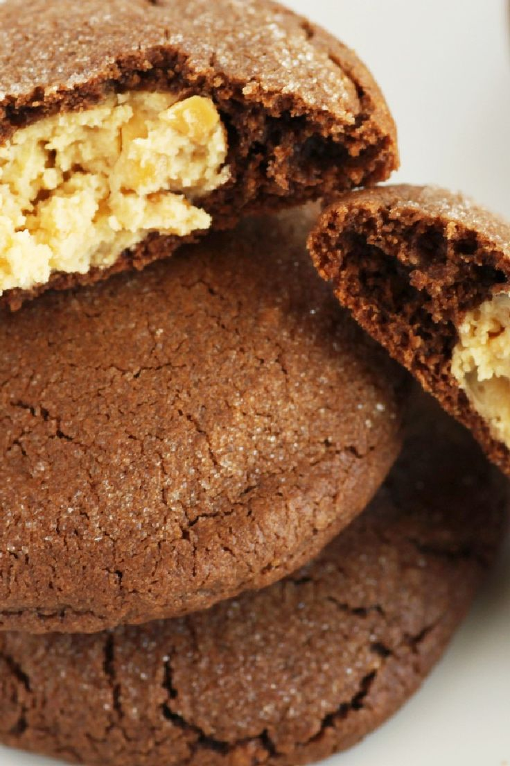 Magic Peanut Butter Middles Chocolate Cookies Recipe Use My Flour And