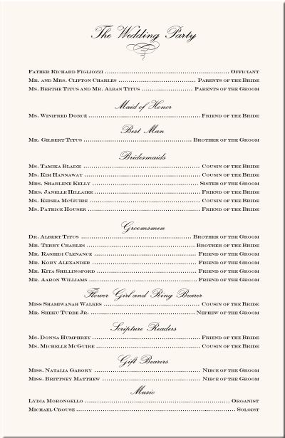 wedding programs | Wedding Program Examples-Wedding Program Wording-Wedding Ceremony ...