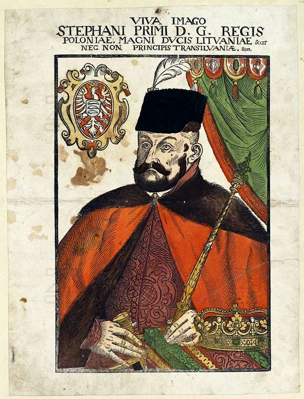 King Stephen Báthory portraited ad vivum by Lucas Mayer, 1576 (PD-art/old), Zentralbibliothek Zürich