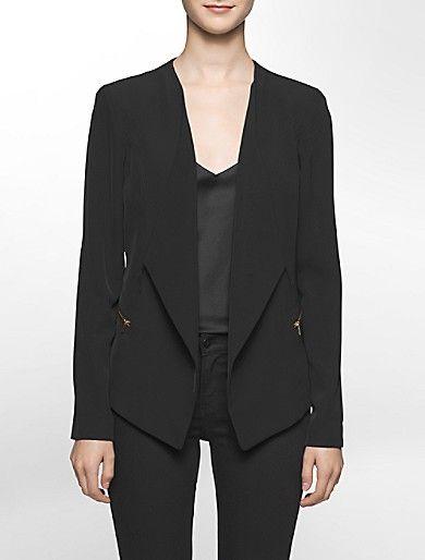 asymmetrical soft suit jacket   Calvin Klein