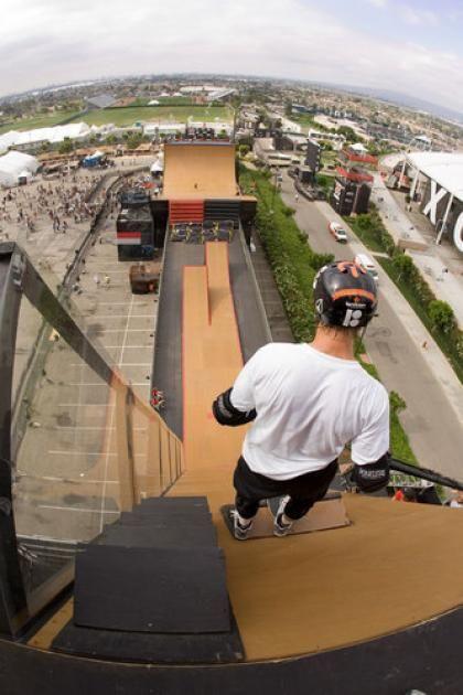 Danny way going down a mega ramp