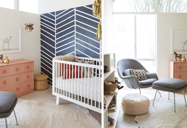 Sweet Navy Blue Coral Nursery For The Home Pinterest