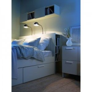 Okay technically I'm not saving up for this because I'm getting it for my birthday from my mom. The Brimnes bed frame and headboard is seriously the best storage idea ever. WIth drawers underneath the bed and a bookshelf in the headboard I will never have to throw anything on my floor again ;)