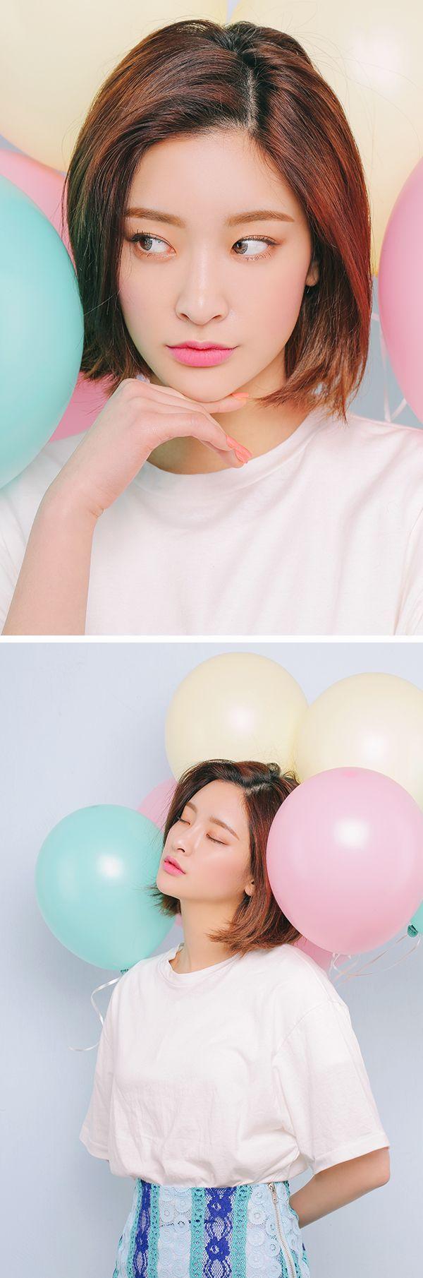 Trendy Hair Highlights : Byun Jungha Byeon Jeongha Model Korean Model Ulzzang Stylenanda
