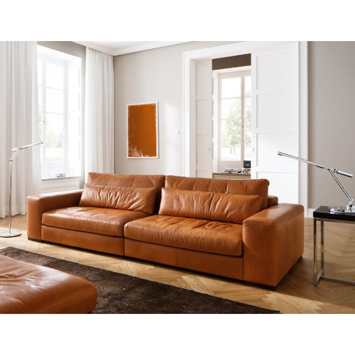 Sofa moreno cognac kleur prachtig home decoration for Sofa leder cognac