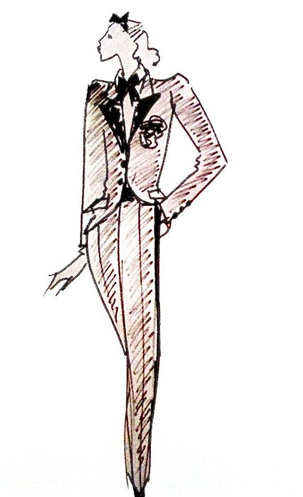 """""""Le Smoking"""", Fall/Winter 1966, by Yves Saint Laurent."""