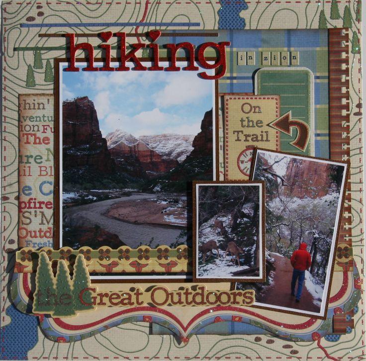 Hiking in Zion - Scrapbook.com