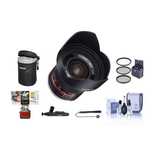 Rokinon 12mm f/2 0 NCS CS Manual Focus Lens Fuji X