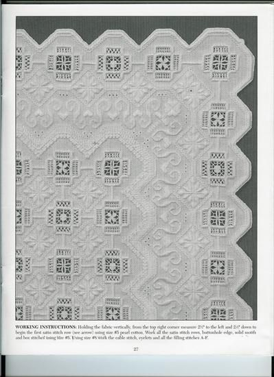 Hardanger lacework, could be re-inerpreted as a quilt