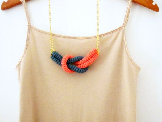 Cute crochet necklace!